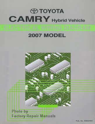 2007 toyota camry hybrid electrical wiring diagrams