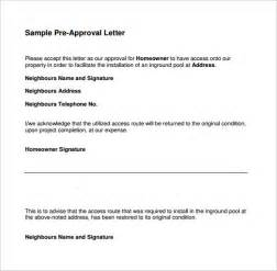 Authorization Letter Sample Mortgage sample pre approval letter 8 download free documents in word pdf