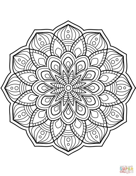 mandala coloring pages free flower mandala coloring page free printable coloring pages