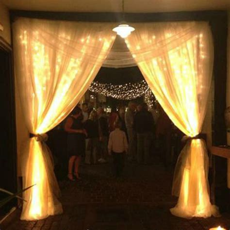 drapes and lights for weddings 2x 6mx3m 600led warm white fairy curtain net light xmas