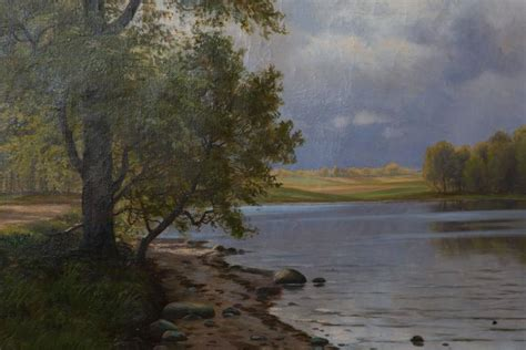 Landscape Paintings European European Landscape Painting On Canvas For Sale At 1stdibs