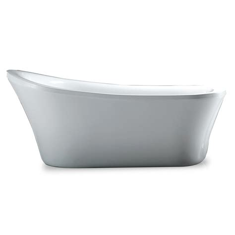ove bathtubs ove decors rachel 5 8 ft reversible drain bathtub in