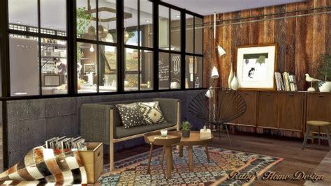 rubys home design mid century industrial loft sims