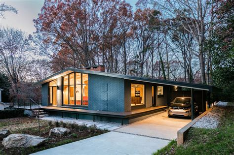mid century modern ranch house this mid century modern house in north carolina received a