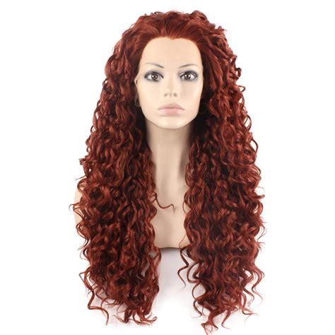 Wig Axela Curly 3 sf3 wine curl wig lace front synthetic curly japanese fiber kanekalon heat resistant