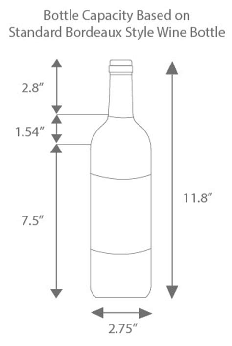 wine bottle dimensions how to find the right bottle capacity in a wine refrigerator