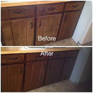 Painting Bathroom Vanity Espresso My Worn Kitchen Cabinets Stained With Minwax Gel Stain In