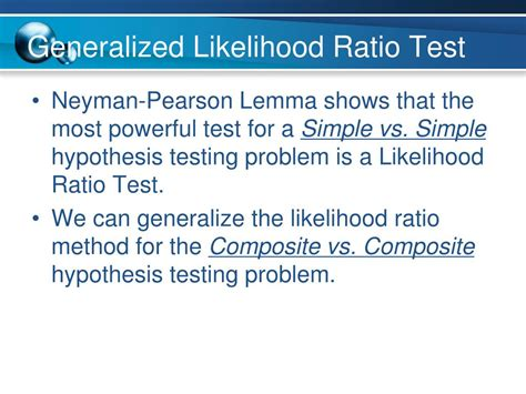 likelihood ratio test ppt chapter 15 powerpoint presentation id 421316