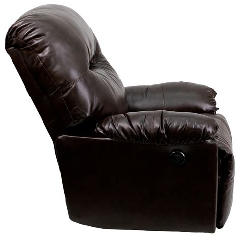 leather chaise recliner contemporary bentley brown leather chaise power recliner