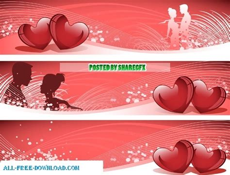 banner design love valentines day banner free vector in encapsulated