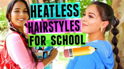 4 back to school heatless hairstyles 4 fast fun heatless hairstyles for back to school