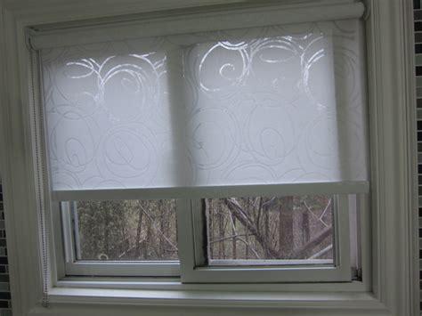 patterned bathroom roller blinds patterned roller blind in an etobicoke home contemporary
