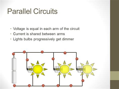 parallel circuits same voltage circuit ppt