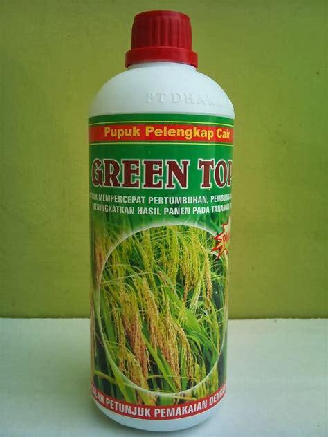 Pupuk Pelengkap Cair 1 green top padi pupuk pelengkap cair zat perangsang tumbuh 1 lt pt dharma ayu tani