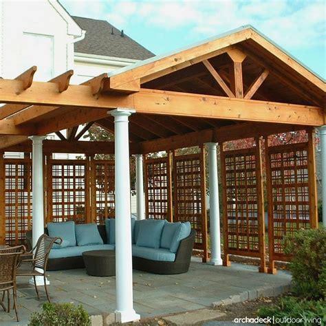 enclosing a pergola 113 best images about pergola ideas on outdoor spaces deck pergola and arbors trellis