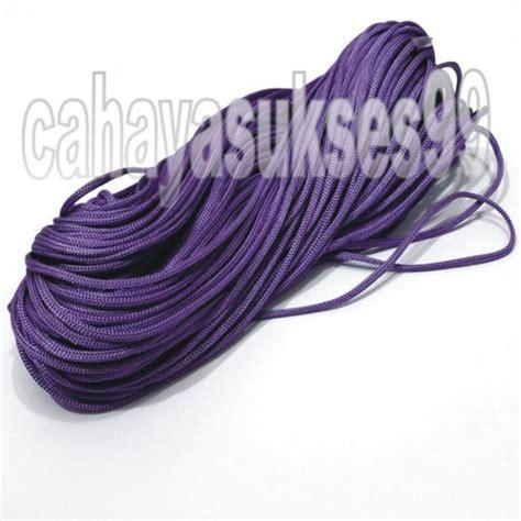 Tas Rajutan Bahan Polyester talikur polyester warna ungu tali kur aksesoris rajutan