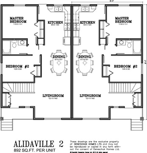 deneschuk homes semi detached and duplex home plans rtm
