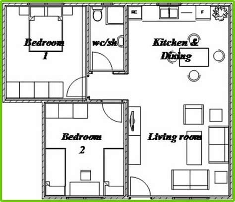 beautiful two bedroom bungalow house plans new home