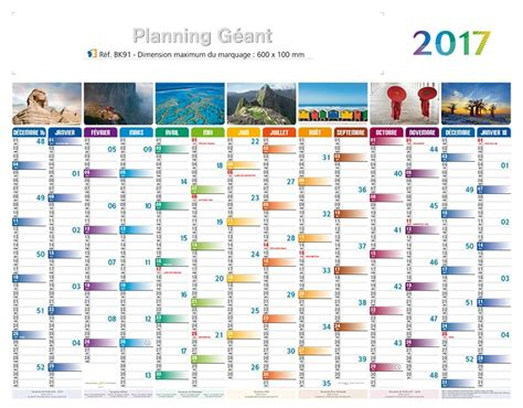 Planning Calendrier Calendrier Publicitaire Planning 2018 Maxi Planning