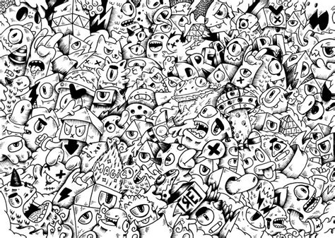 doodle monsters doodle illustration by redstar94 on