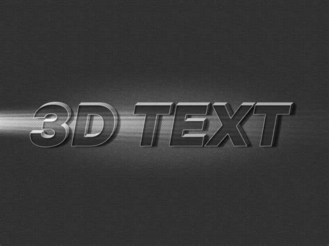 3d text effect photoshop template