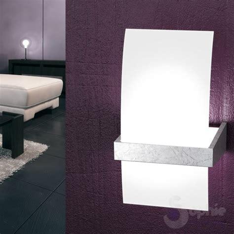 Applique Design Moderno by Applique Parete Vetro Curvo Design Moderno Foglia Argento