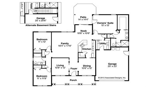 Open Floor Plan Craftsman by Craftsman Style House Floor Plans Craftsman Home With Tile
