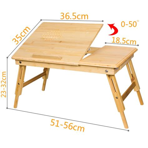 sobuy 100 bamboo folding laptop table bed table small