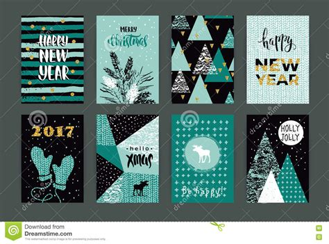 new year creative greetings artistic illustrations vector stock images
