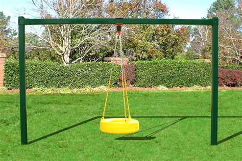 backyard tire swing diy swing set frame metal tire swing bay outdoors