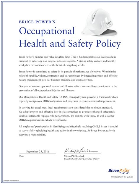 Template Health And Safety Policy Safety And Health Program Template
