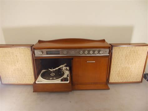 vintage ge stereo cabinet with turntable ge console hi fi stereo model rc 1672a garrard turntable