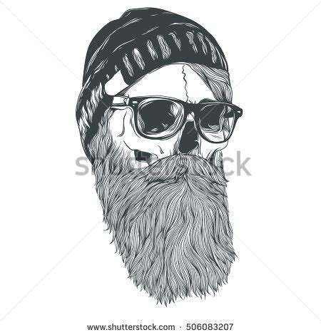 bearded skull stock images royalty free images amp vectors