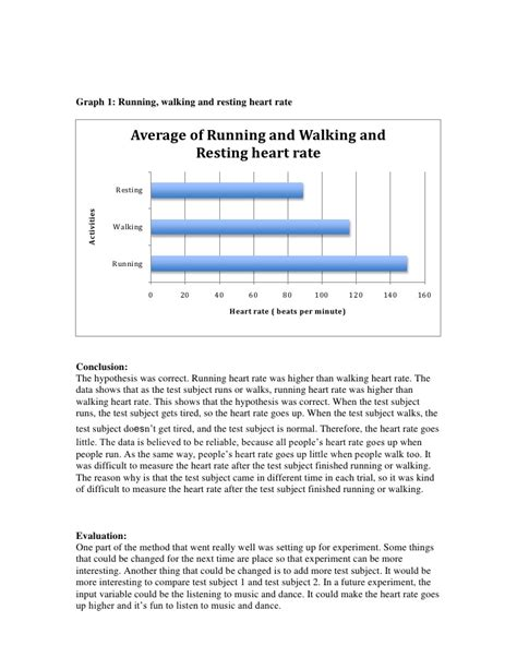 average walking rates science lab report