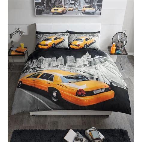 New York Duvet Cover by Premium Range Modern New York Yellow Cab King Size Duvet