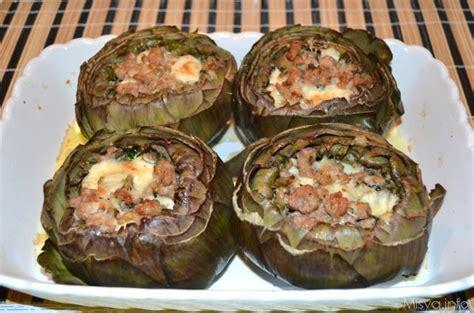 come cucinare salsicce 187 carciofi ripieni di salsicce ricetta carciofi ripieni