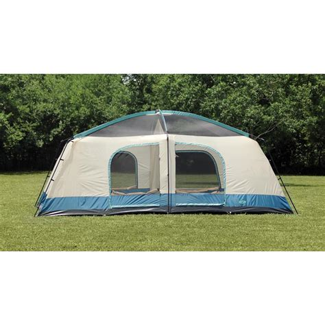 cabin tents texsport blue mountain 2 room cabin dome tent 656533