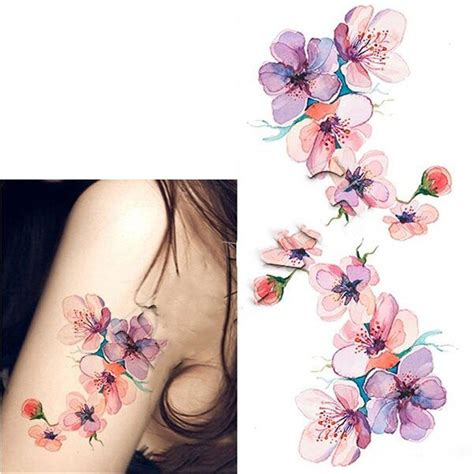 watercolor tattoos temporary born pretty 1 sheet waterproof temporary sticker