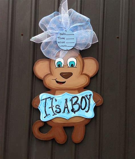 Hospital Door Hangers For Baby by Hospital Monkey Door Hanger Its A Boy Baby Carriage Polk