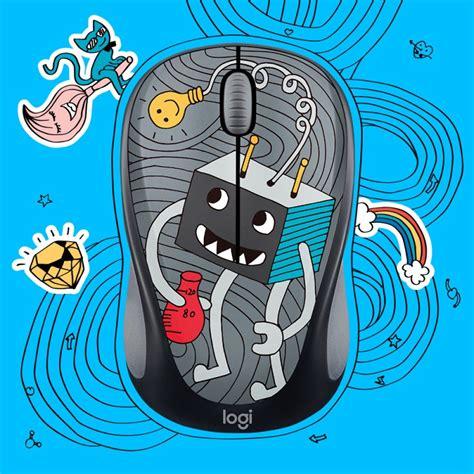 Logitech M238 Mouse Wireless Doodle Collection Sneakerhead dizajnov 225 kolekcia quot pomaľovan 253 ch quot myš 237 logitech 2017 doodle collection m 225 spr 237 jemniť aj tie