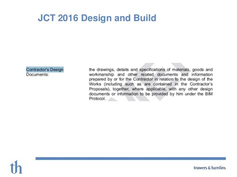 latest jct design and build contract bim protocols what are they do we need them what should