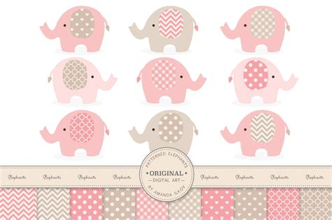 Pink Elephant Baby Shower by Pink Elephant Clipart Baby Shower Clipartsgram
