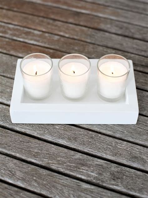Rectangular Candle Tray Rectangular Wooden Candle Tray