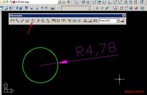 autocad 2007 tutorial za pocetnike autocad 2007 kako kotirati polumjer kruga ili kružnice u