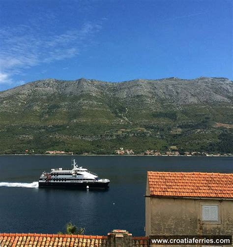 catamaran ferry split korcula ferry catamaran krilo star this morning on route split