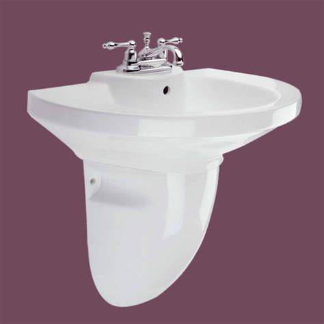 half pedestal bathroom sinks pedestal sinks white china edinburgh half pedestal sink 4
