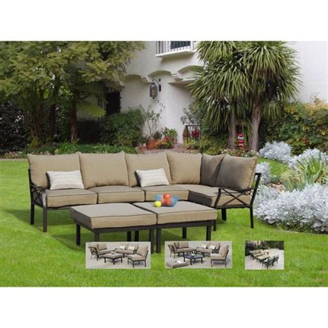 rushreed 3 piece outdoor sectional mainstays sandhill 7 piece outdoor sofa sectional set