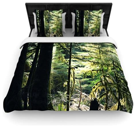 forest green bedding robin dickinson quot enchanted forest quot green duvet cover