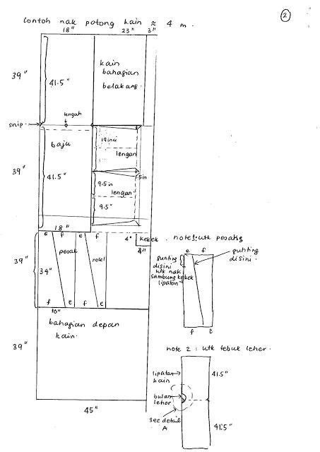 SHA's Inspiration: Cara potong kain 4 meter untuk baju kurung | POLA KURUNG RIAU | Baju kurung