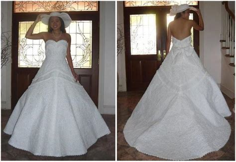 How To Make Toilet Paper Dress - beautiful white wedding dress with japanese origami